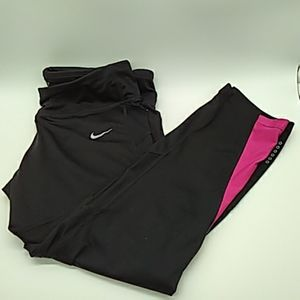 Nike women's dri fit black running pants L